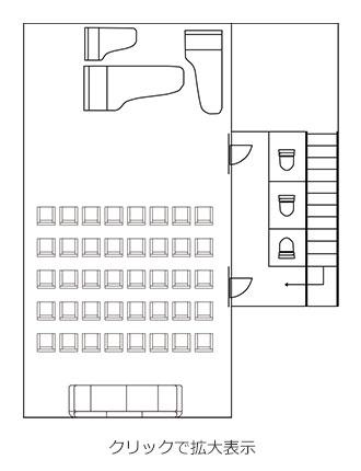 カルラホールの平面図